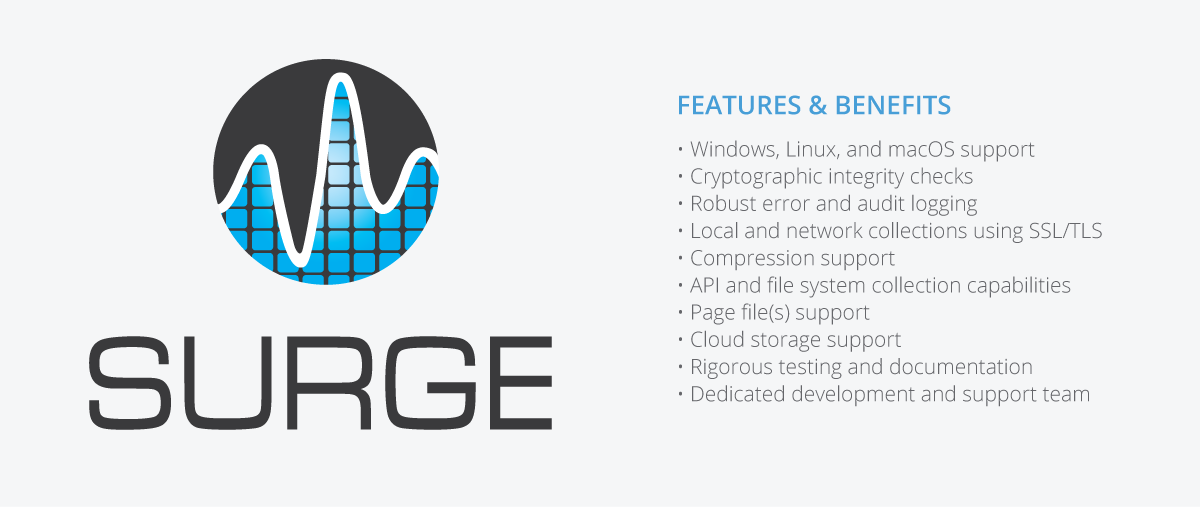 Surge Collect Provides Reliable Memory Acquisition Across Windows