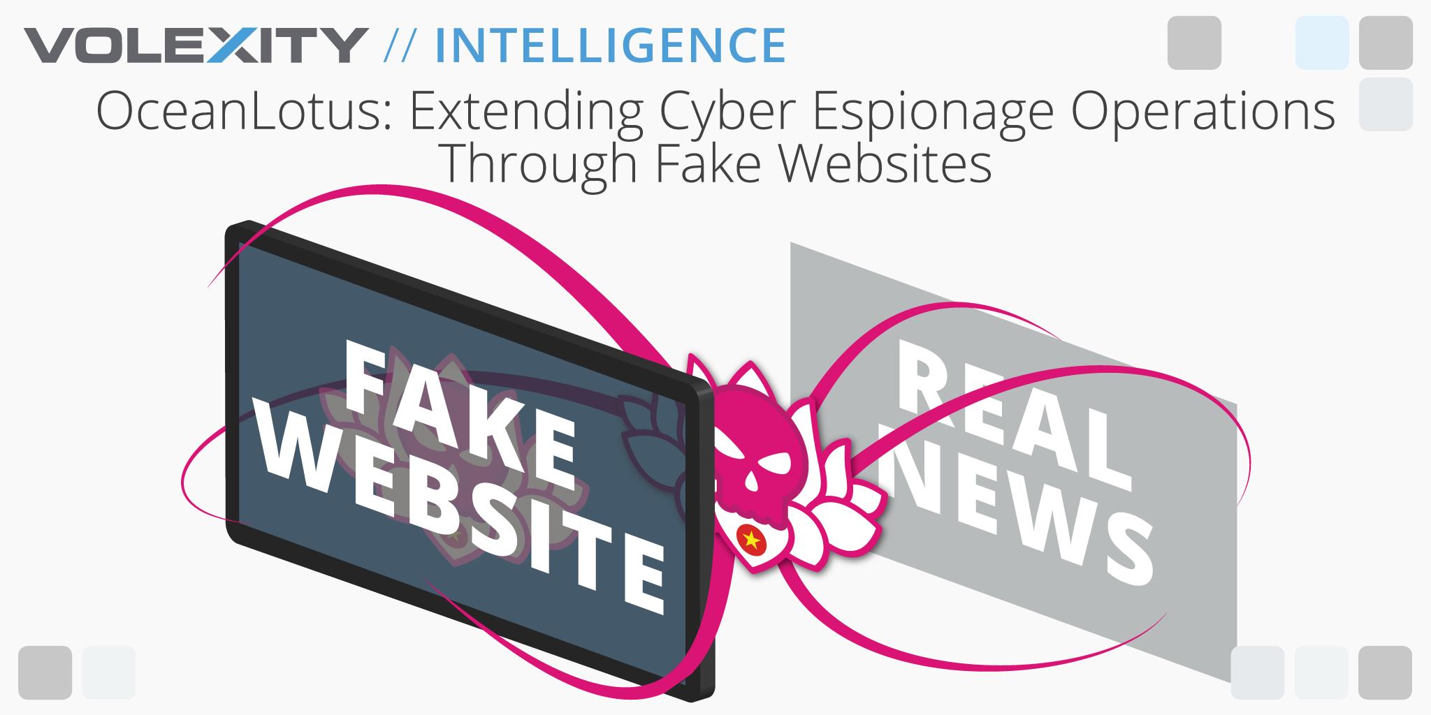 OceanLotus: Extending Cyber Espionage Operations Through Fake Websites