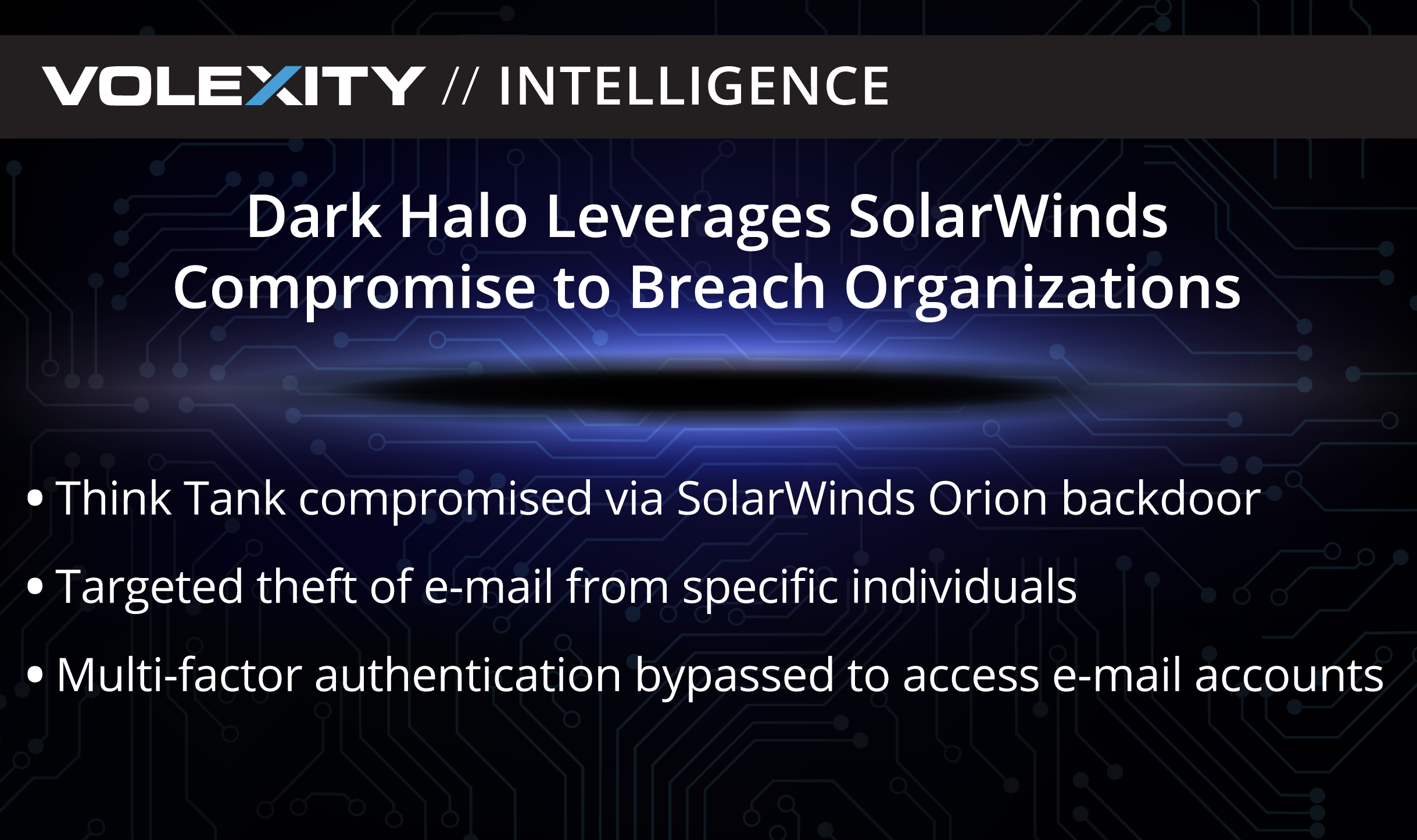 Dark Halo Leverages SolarWinds Compromise to Breach Organizations